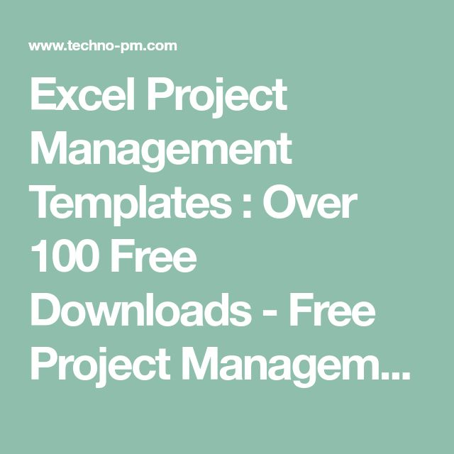 Excel Project Management Templates : Over 100 Free Downloads - Free Project Management Templates
