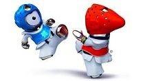 #Olympics: London 2012 mascots Wenlock And Mandeville Do Taekwondo