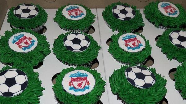 #Liverpool Fan Cupcakes