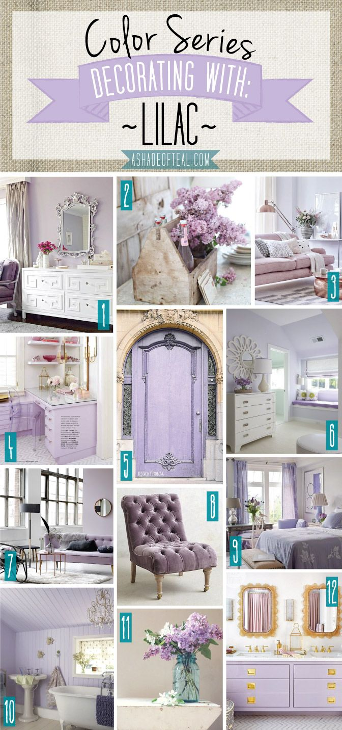Color Series; Decorating With Lilac. Purple Teal BedroomLilac ...