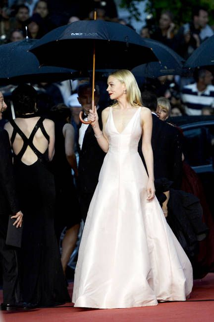 Carey Mulligan wearing Dior Couture at Cannes