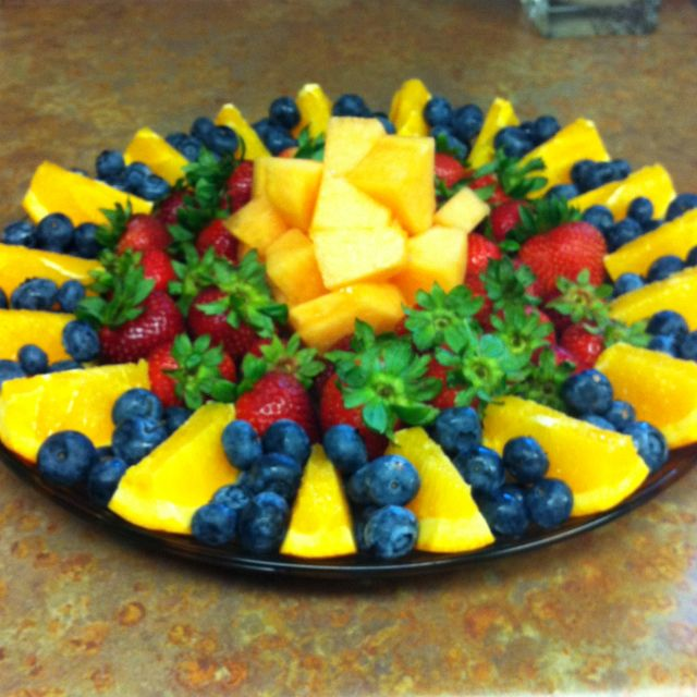 Fruit platter, a birthday cake alternative