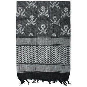 Skull and cross bones scarf