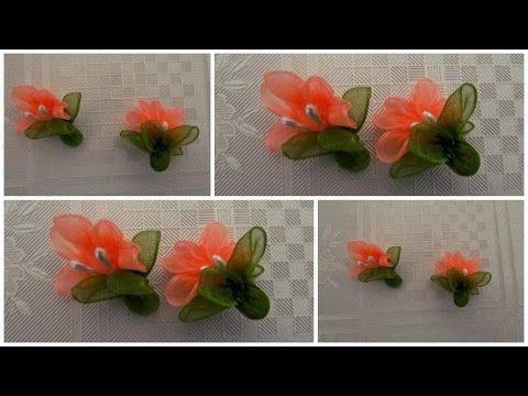 Ay Çiçek Modeli Kurdele Oya Yapımı Video - YouTube