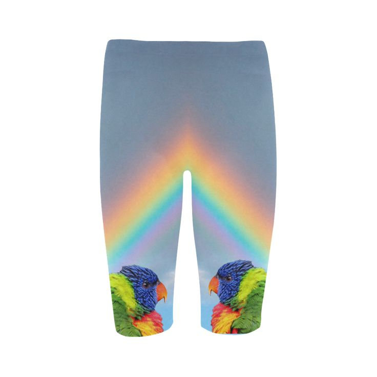 Rainbow Lorikeet Cropped Leggings. FREE Shipping. FREE Returns. #lleggings #parrots