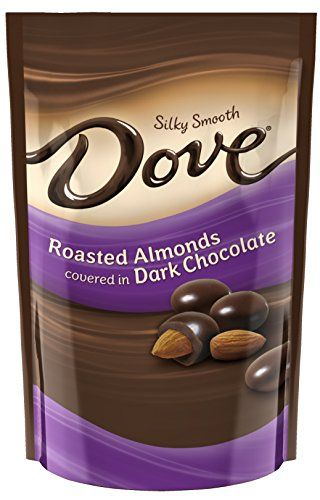 DOVE Dark Chocolate Almond Candy 4.5-Ounce Bag (Pack of 6) - http://bestchocolateshop.com/dove-dark-chocolate-almond-candy-4-5-ounce-bag-pack-of-6/