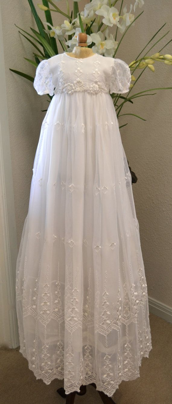 Christening Gown Baptism Gown Heirloom Gowns by CouturesbyLaura