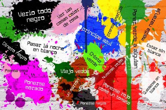 """Nueva versión de """"Sacándole los colores al español"""". Si te interesa conseguir esta lámina para decorar tu casa o tu clase de español... ¡contáctanos! - @ProfeDeELE.es.es.es"""
