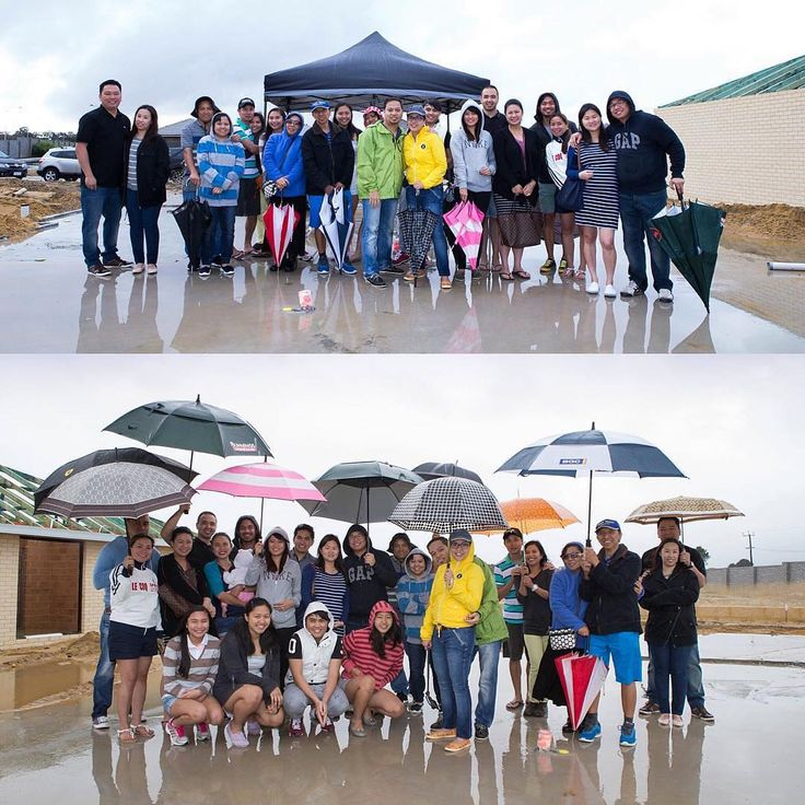 Rain or shine! We love the commitment to good times from @eyeclaude and her family at their slab party! Thanks for sharing! #homegroupwa #hgwa