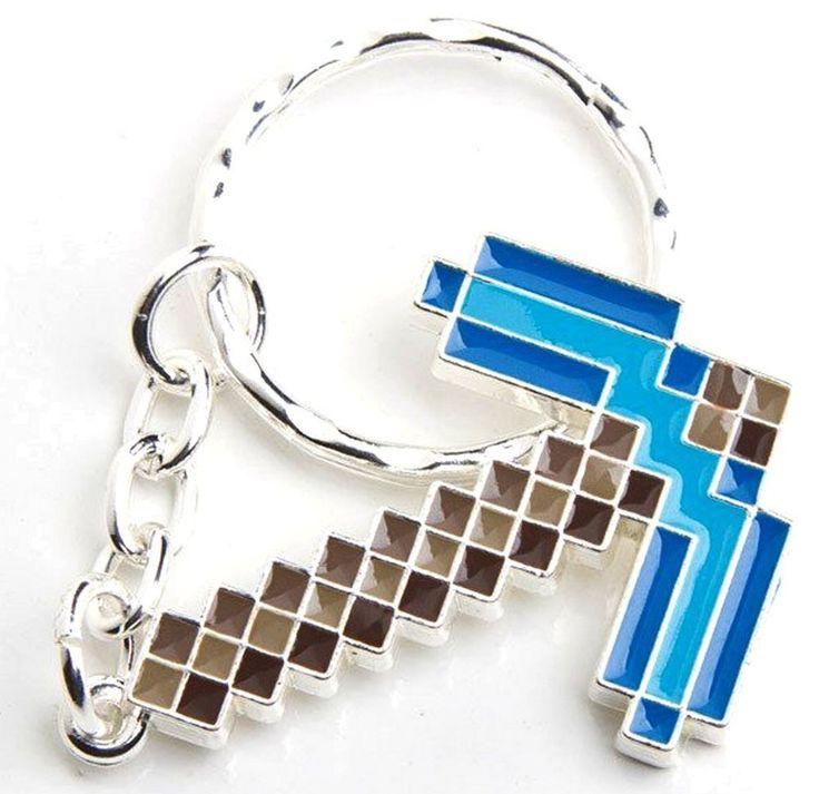Collectible Key Ring Minecraft Diamond Pickaxe Metal Keychain