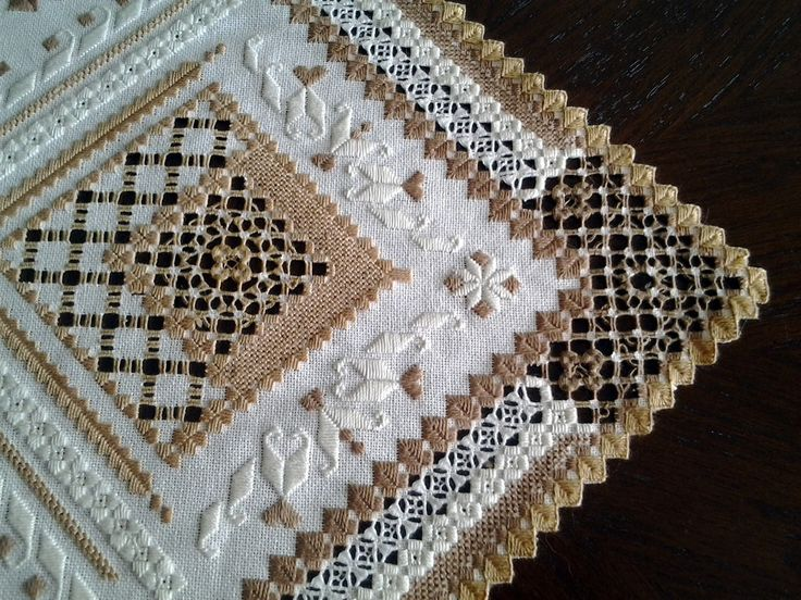 What a beautiful creative piece of hardanger and drawn thread.