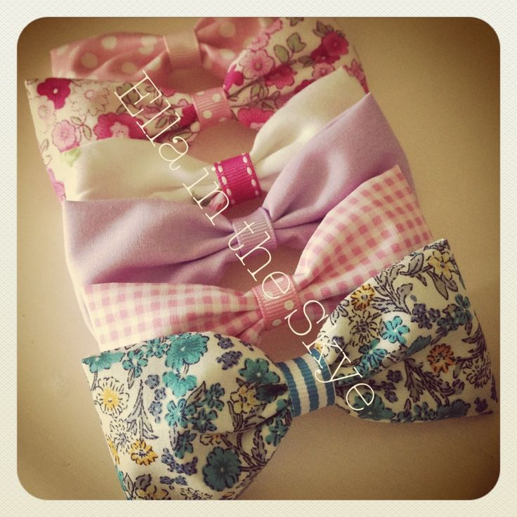 Pretty fabric bows at www.facebook.com/ellaintheskyegifts. Follow @ellaintheskye on instagram.  #hairclips #hairbows #headbands #hairaccessories