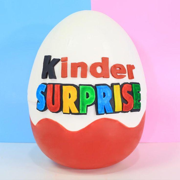 My Cupcake Addiction   Recipes   Giant Kinder Surprise Egg