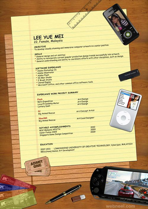 48 best Creative Resumes images on Pinterest Creative resume - resume design samples