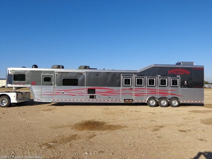 2015 Bloomer Trailers 5 Horse 21.6' Outlaw LQ w/ Double slide-out Stock: BLMR5H22SLD   P&P Trailer Sales