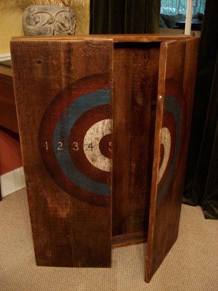 Best 25+ Dart board cabinet ideas on Pinterest | Dartboard cabinet diy, Dartboard pallet and ...