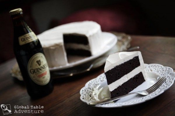 Dark chocolate Guinness Cake with Bailey's Buttercream.  St patty's day????? Yes please!!