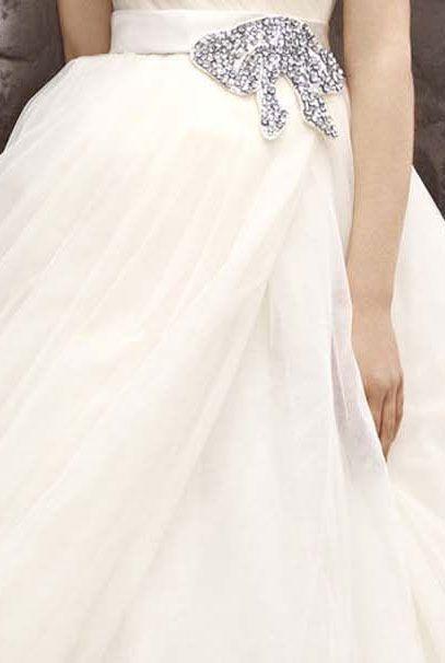 Оригинальные платья Вера Вонг с пышной юбкой