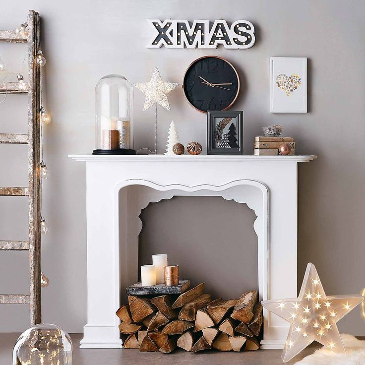 die besten 25 weihnachten kamin ideen auf pinterest weihnachten kamindekorationen. Black Bedroom Furniture Sets. Home Design Ideas