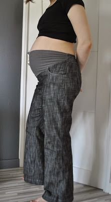 Pantalon Flare de grossesse, adaptation maison couture, Mes ptites mains en action