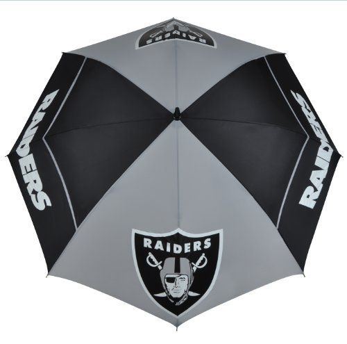 Oakland Raiders Windsheer II Umbrella by McArthur. Save 5 Off!. $38.12. Innovative WindSheer Hybrid Umbrella. -1. Designed with four single canopy panels and four double canopy panels. Patented Wind-Release System with the oversized logo enhancements. NFL Oakland Raiders 62-inch WindSheer Hybrid Umbrella