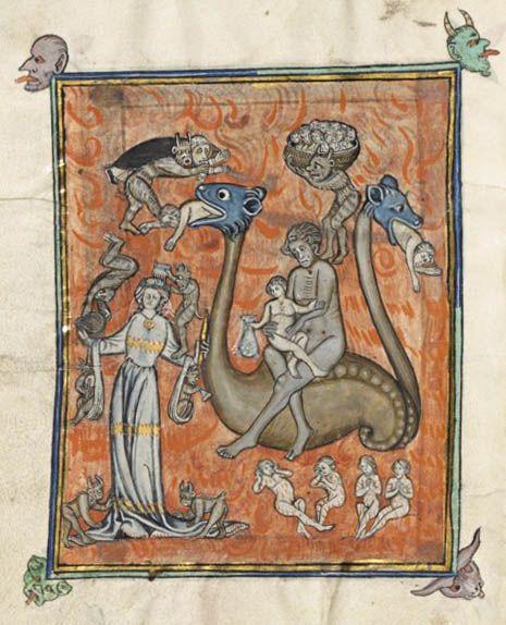 Apocalypse de S. Jean, en français (1313), Bibliothèque nationale de France, Français 13096, f.86v.
