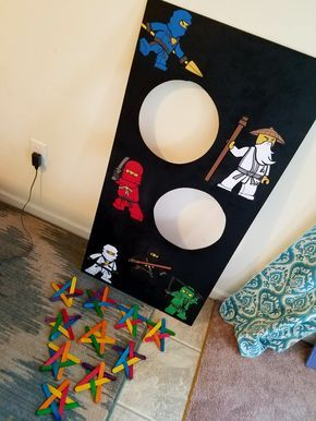 Ninja Star Toss for Bub's Ninjago Birthday Party!