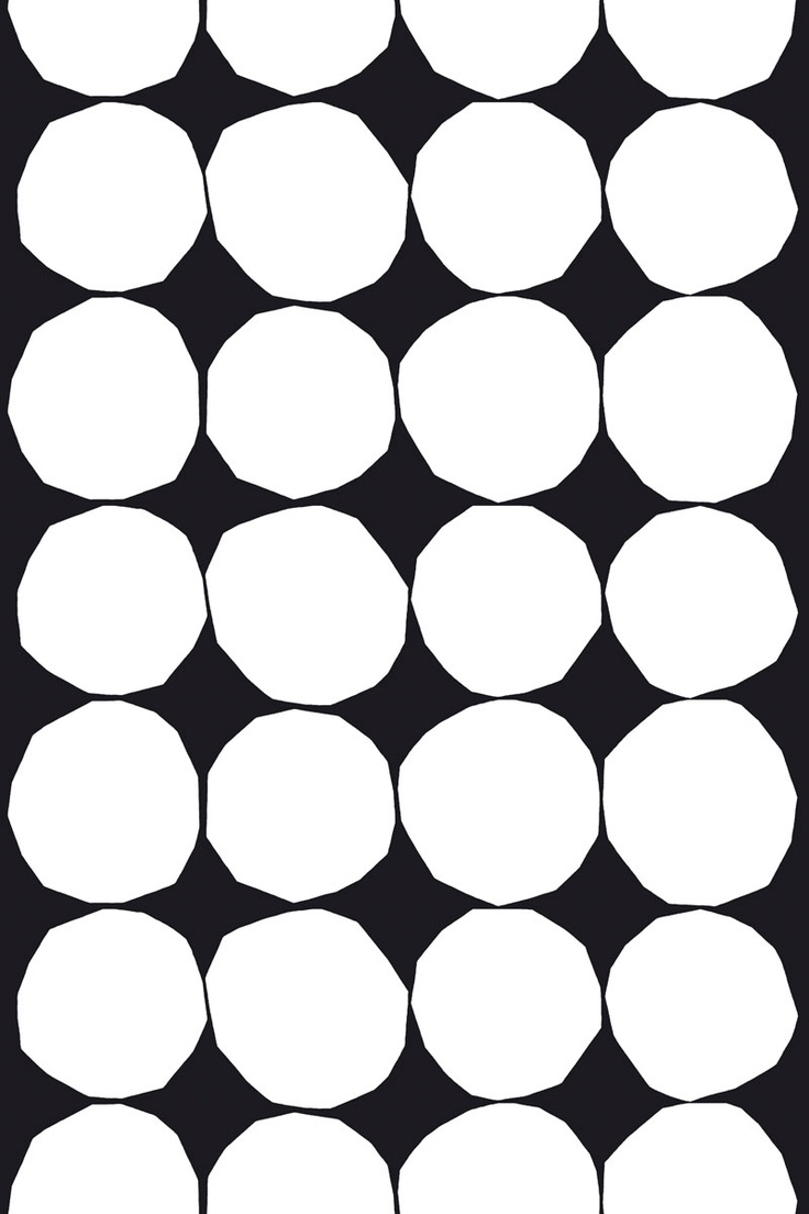 Marimekko : black and white Kivet