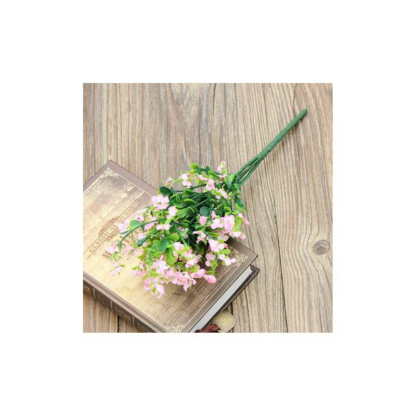 Artificial Flower Gypsophila 1 Bouquet 6 Branches Wedding Party Home... (890 HUF) ❤ liked on Polyvore featuring home, home decor, floral decor, pink, branches home decor, silk floral arrangement, pink home decor, pink bouquet and silk arrangements