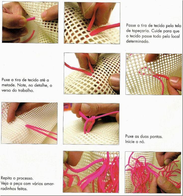 Como hacer un bolso de trapillo con redecilla2 proyectos - Bolsos para hacer ...