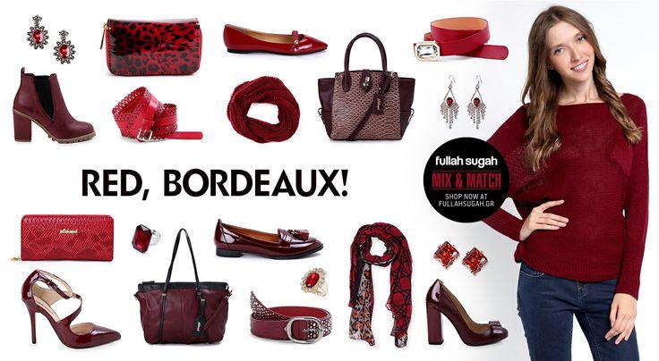 Mix & Match | Red, Bordeaux! | http://fullahsugah.gr/ #MixAndMatch #FullahSugah