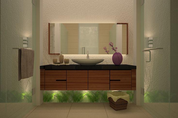 Inspirasi desain kamar mandi mungil dan rapi   Portofolio By : Intervisual (Interior Designer di Sejasa.com)