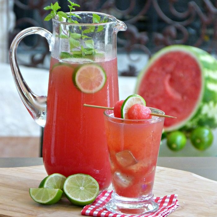 Watermelon Ginger Limeade Drink