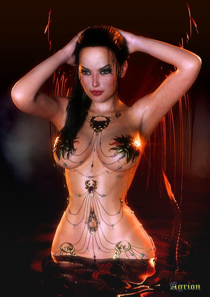 nude demon women fantasy