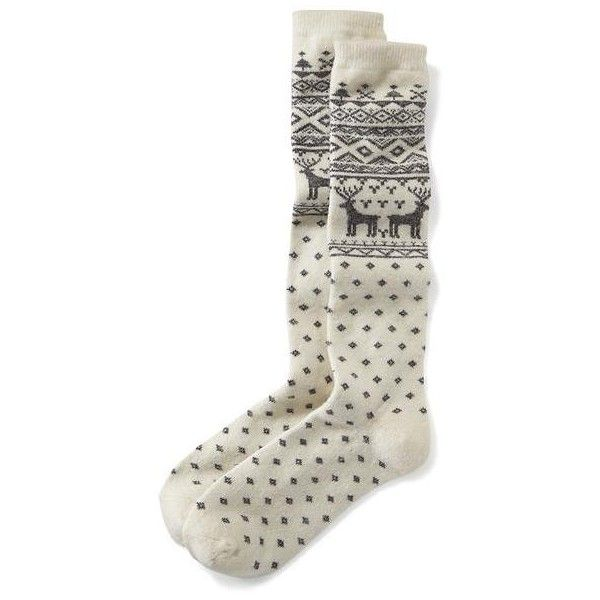 Old Navy Thick Patterned Boot Socks ($8) ❤ liked on Polyvore featuring intimates, hosiery, socks, white reindeer, old navy, patterned hosiery, print socks, white hosiery and thick socks