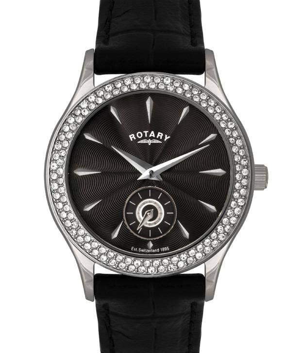 Rotary LS02908-04 Analog Black Dial Women's Watch