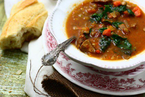 Lentil Curry Soup with Kale & Quinoa