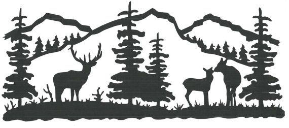 Elk Tree Scene Wall Vinyl Vinyl Wall Decor Pinterest