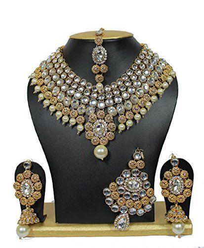Indian Bollywood Diamante Kundan Pearls Gold Tone Fashion... https://www.amazon.com/dp/B01J3KCZ3W/ref=cm_sw_r_pi_dp_x_eESQyb2BHJ9W4