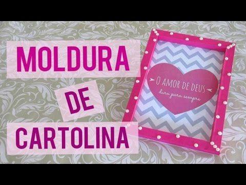 DIY l Moldura de Cartolina (Super fácil) - YouTube