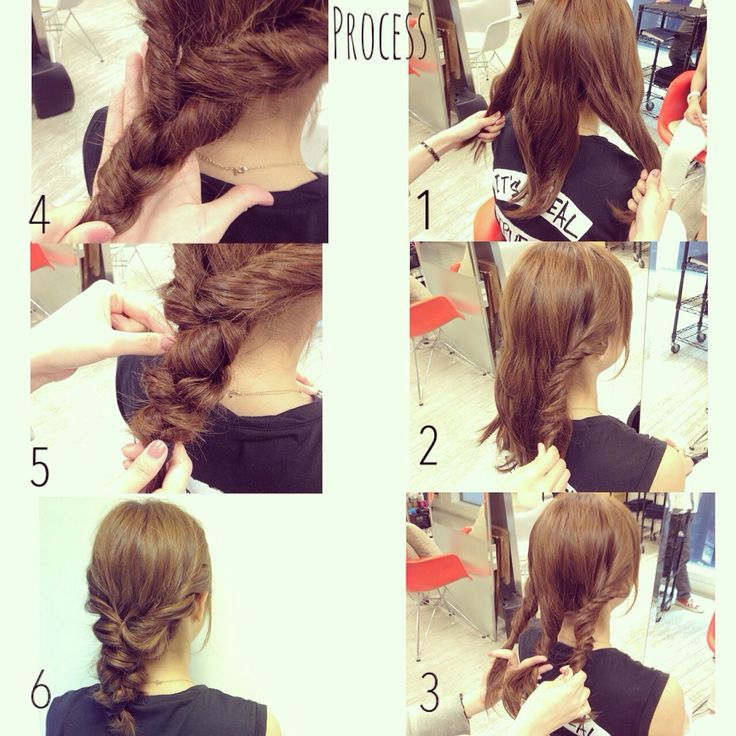 ねじった髪を三つ編みするだけでこんなに可愛く♡ 画像のように... MERY [メリー]