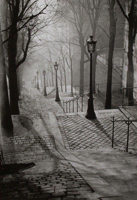 Lantern Stairway. Montmartre.