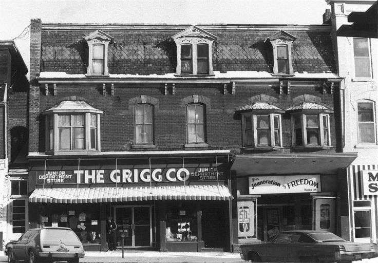 In the 1920's Alvin Grigg opened The Grigg Co., a department store created to mimic Woolworths and Kresges, offering affordable prices during war time at 139 Broadway. The building is now home to the White Truffle.