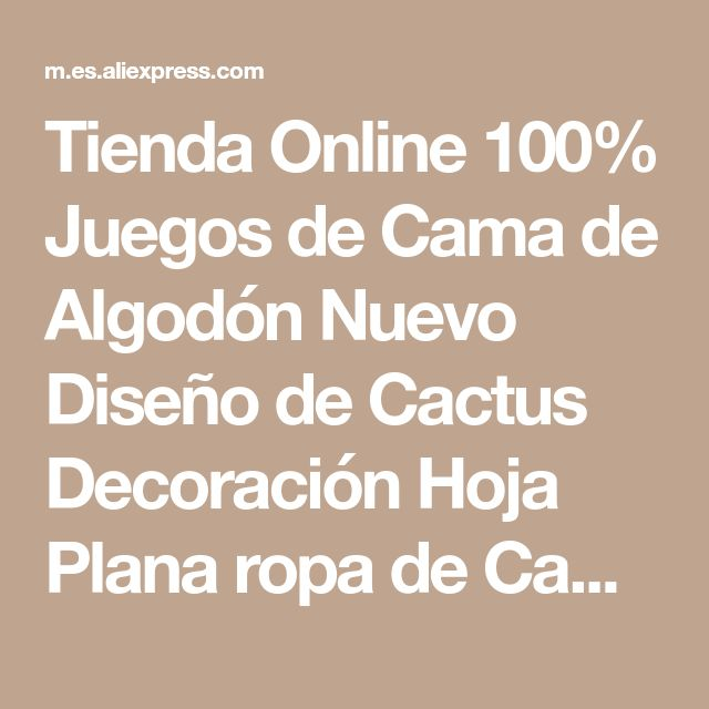 Tienda Online 100% Juegos de Cama de Algodón Nuevo Diseño de Cactus Decoración Hoja Plana ropa de Cama Edredón Funda de Almohada Reina King Size Cubierta | Aliexpress móvil