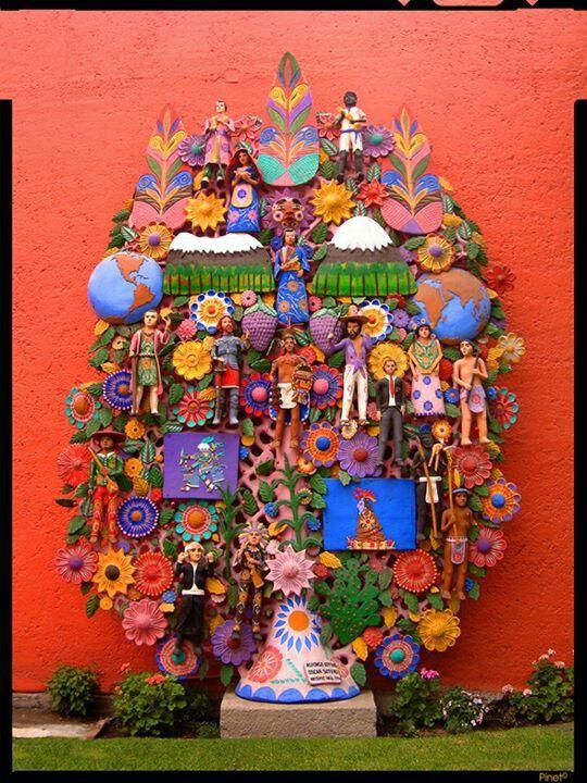 Arbol de la vida, artesania mexicana hecha en barro