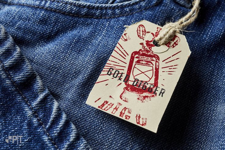 Hang-tag made in Italy by Panama Trimmings #denim #details… #vintage #labeling