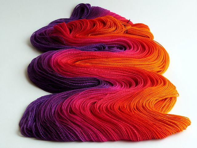 There is not a word big enough to describe how GORGEOUS this yarn is!