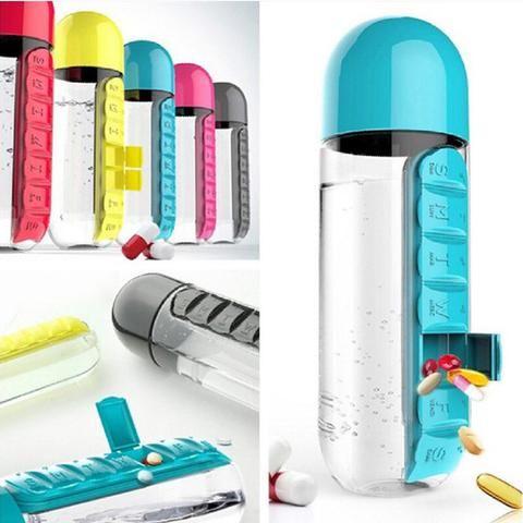 Metformin & Glipizide Pill Organizer Water Bottle