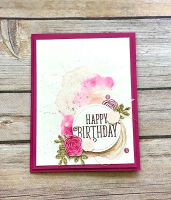 The Happy Birthday Gorgeous stamp set is the perfect way to send your birthday wishes!  From gorgeous cards to beautiful gift packaging- this set can do it all! - Dani Dziama