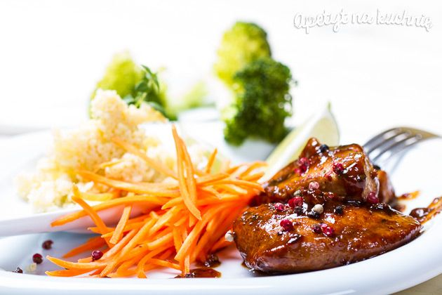 Glazurowany kurczak cytrynowy z kaszą jaglaną